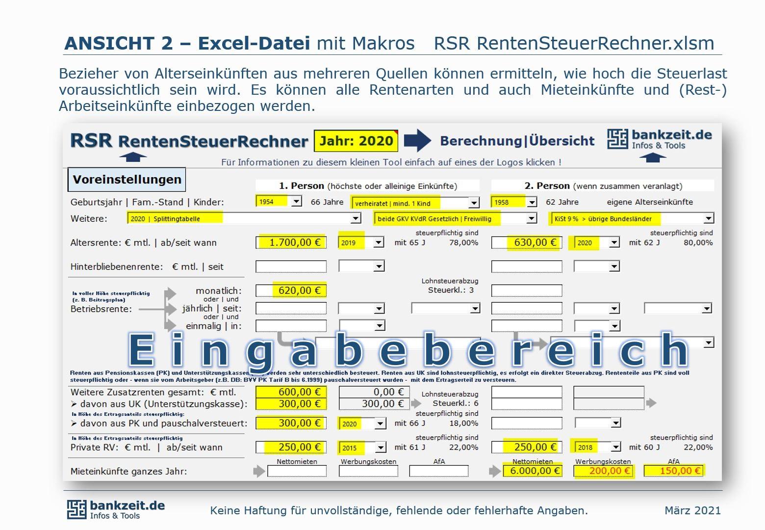 RSR RentenSteuerRechner